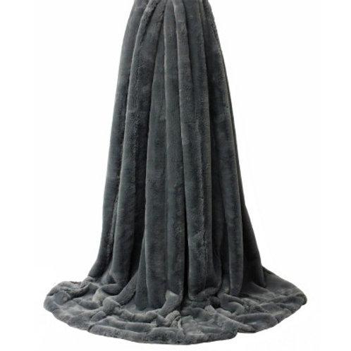 Extra Large Empress Throw - Charcoal Grey