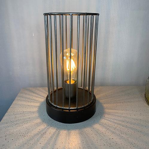 Black & Silver Cage Lamp