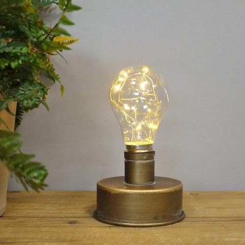 Battery powered bulb light