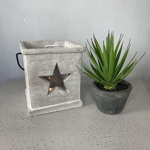 Small concrete star lantern