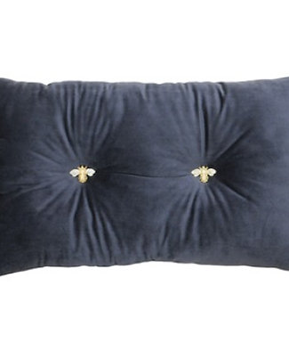 Bumble Bee Cushion Charcoal