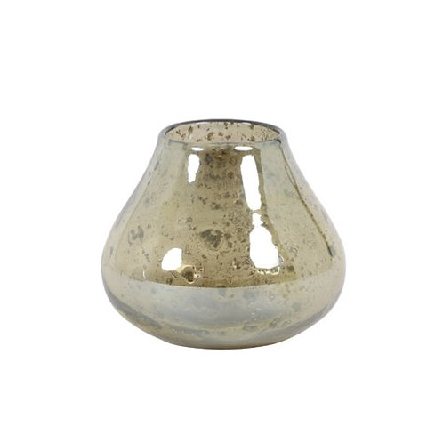 Stone Finish Glass Vase