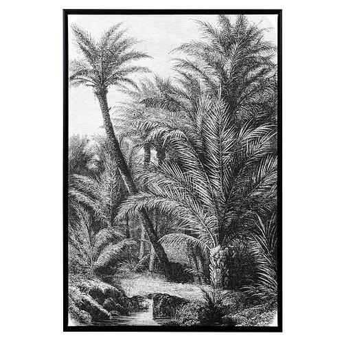Black & White Palm Tree Print