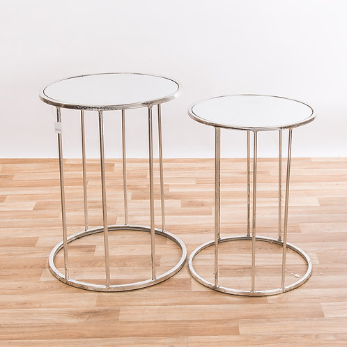 Nest of 2 Tables - Silver Leaf