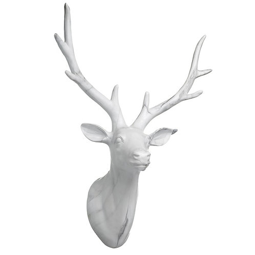 Large Marble Stags Head