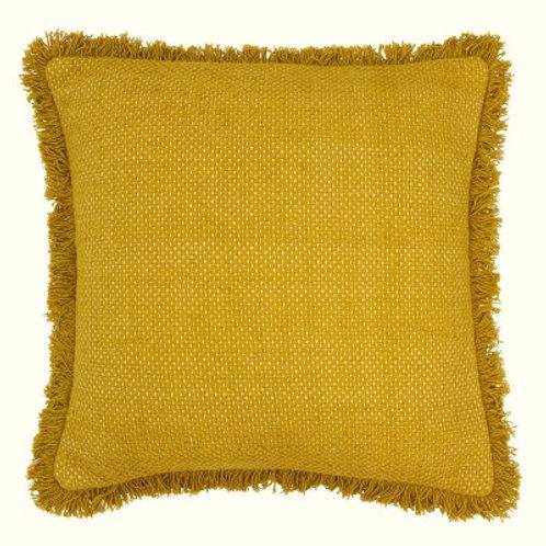 Sienna Fringe cushion - Mustard