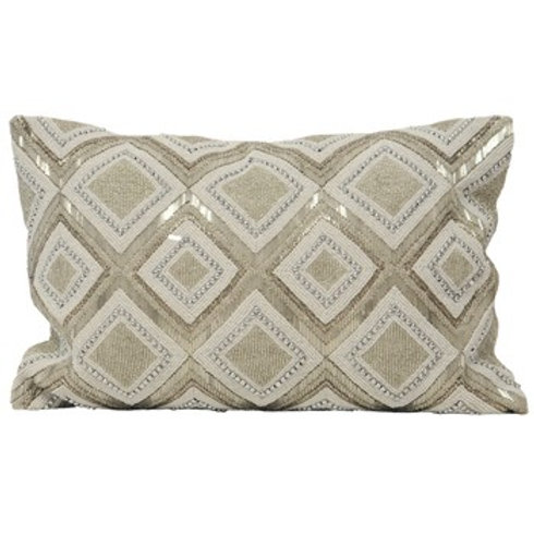 Silver Jewelled Cushion