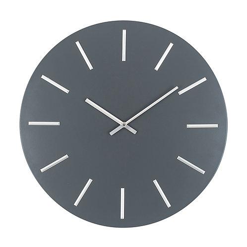 Grey & Silver Large Wall Clock