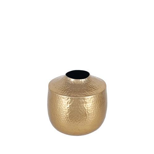 Brass Hammered Vase
