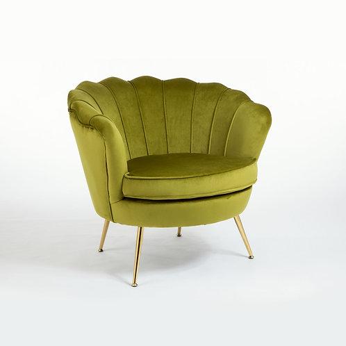 Cocktail Armchair - Olive Velvet