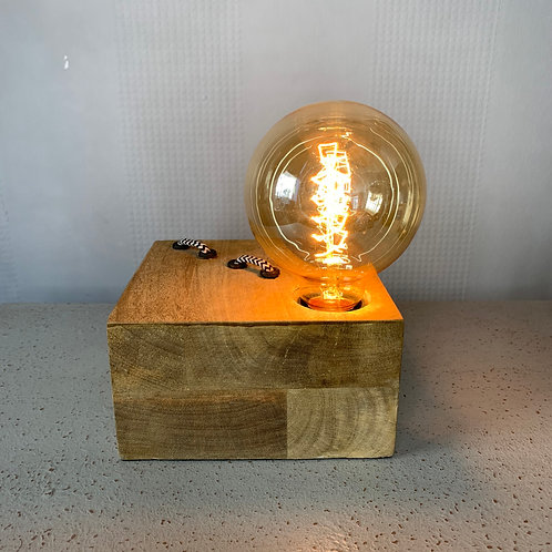 Wood Light With Bulb