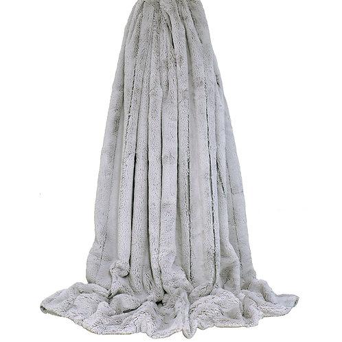 Extra Large Empress Throw -Silver Grey