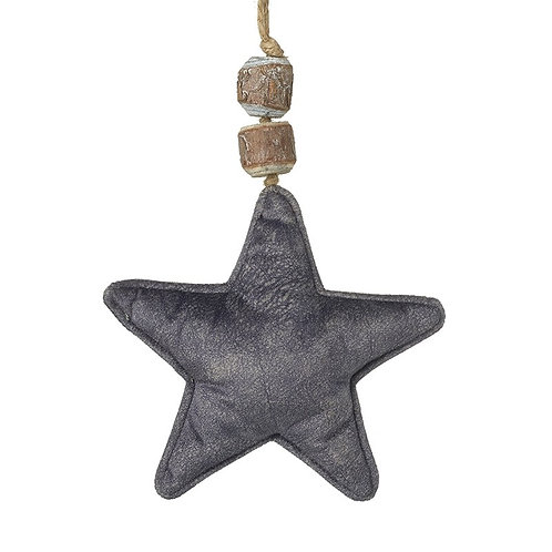 Grey Velvet Hanging Star