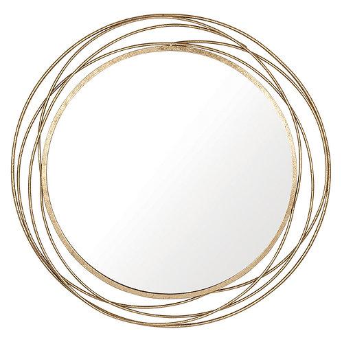 Gold Leaf Circles Large Mirror