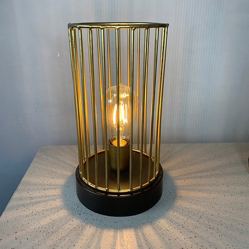 Black & Gold Cage Lamp
