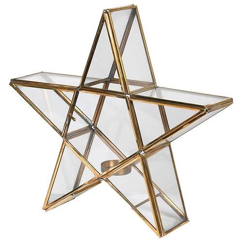 Brass Star Candle Holder