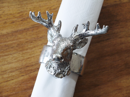 Stag metal napkin holder