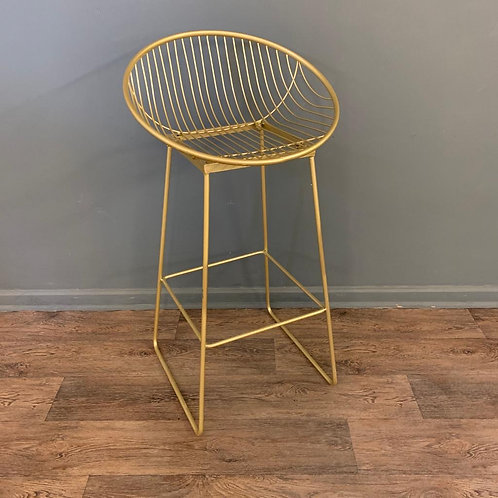 Gold Wire Bar Stool