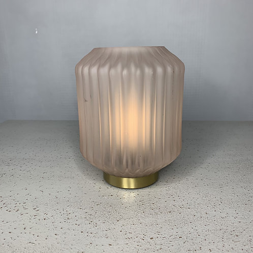 Pink battery powered lamp