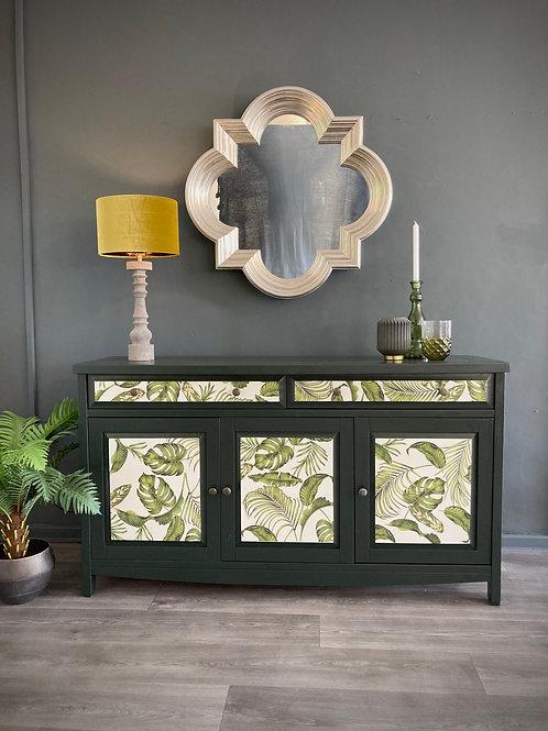"""""""Ivy"""" Handpainted Vintage Botanical Sideboard"""