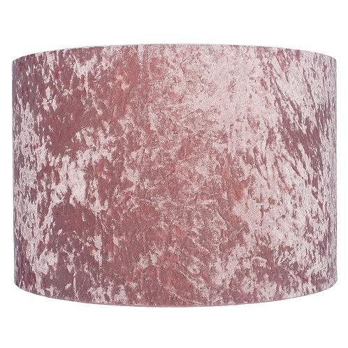 30cm Crushed Velvet Shade -Blush