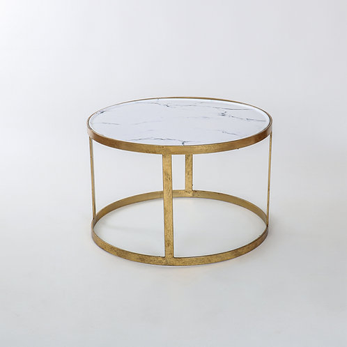 Gold leaf marble effect coffee table