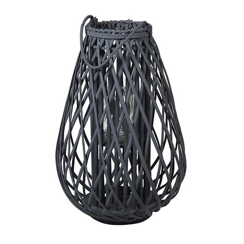 Small Dark Grey Willow Lantern