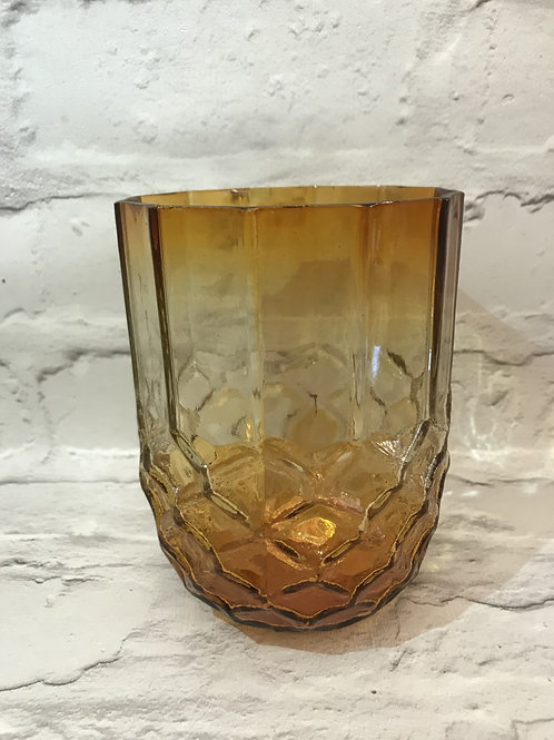 Large Ochre Candle Holder