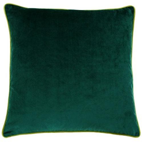 Velvet cushion - Emerald & Moss