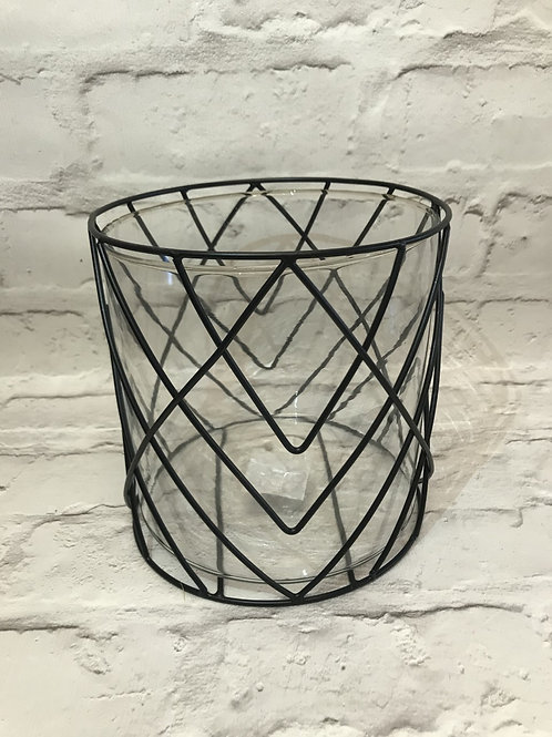 Large Black Wire Candle Holder