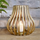 Thumbnail: Small gold wire tealight candle holder