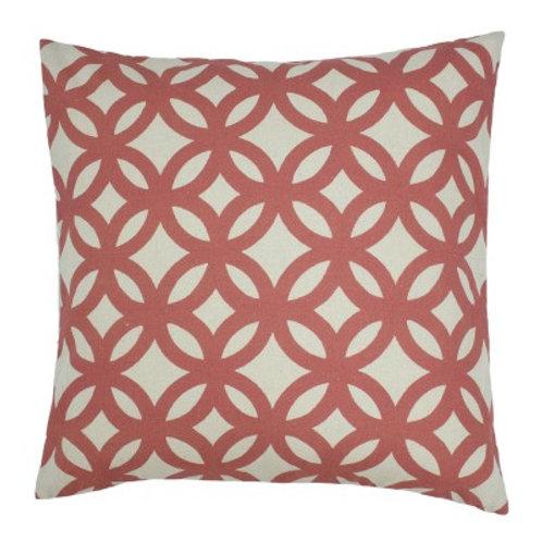 Geo cushion - Coral