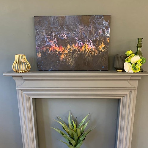 'Midnight Fire' Original Canvas
