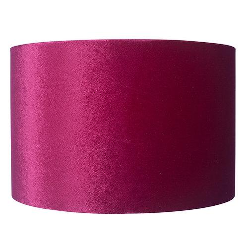 45cm Velvet Shade - Raspberry