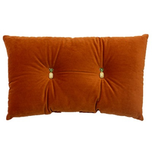Pineapple Cushion Burnt Orange