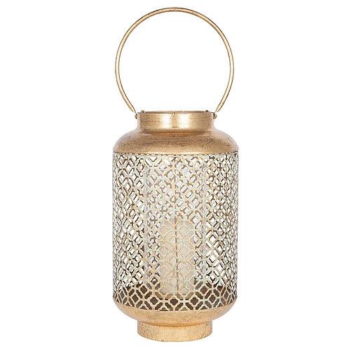 Antique gold lantern large