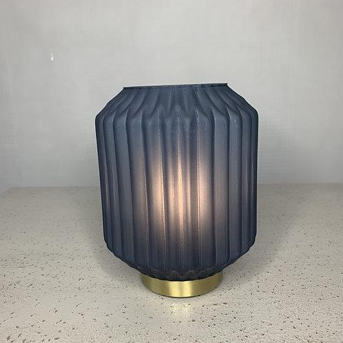 Navy blue battery powered lamp