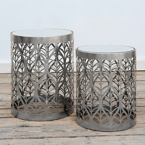 Silver Leaf Side Table - Large