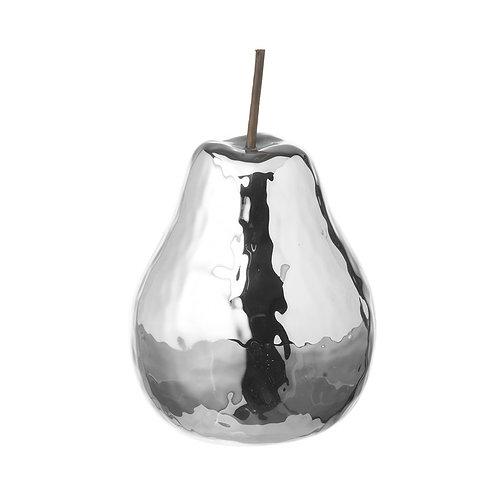 Silver Pear Decoration