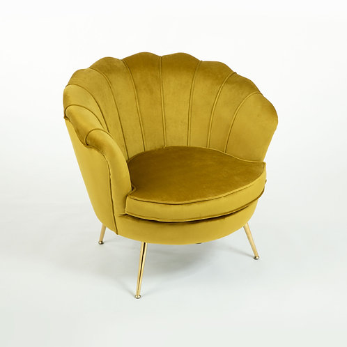Cocktail Armchair - Mustard Velvet