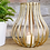 Thumbnail: Large gold wire tealight candle holder
