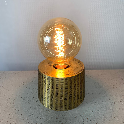 Antique Gold Table Lamp with Bulb