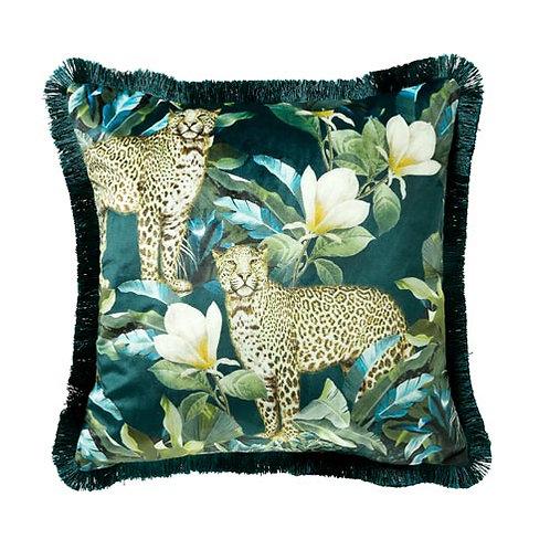 Cougar Teal & Green Cushion