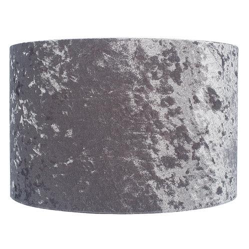 45cm Crushed Velvet Shade - Silver