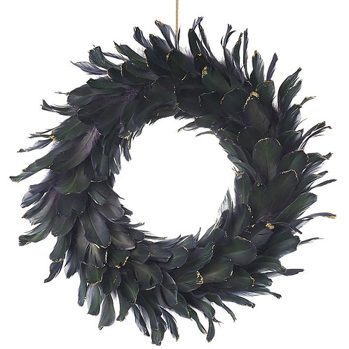 Large Feather Door Wreath