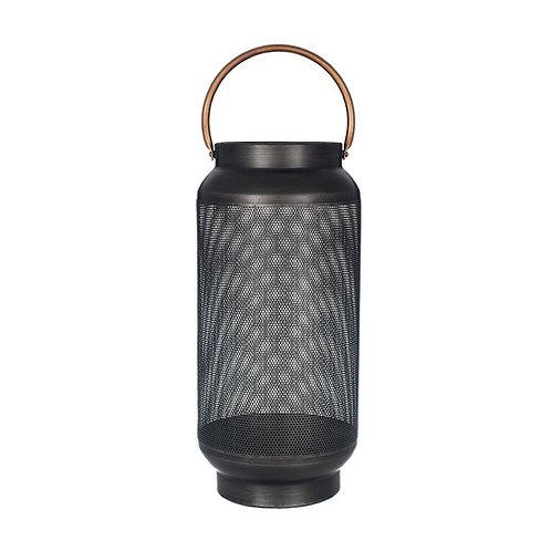 Large black mesh lantern