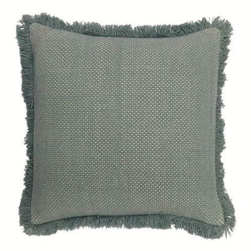 Sienna Fringe cushion - Duck Egg