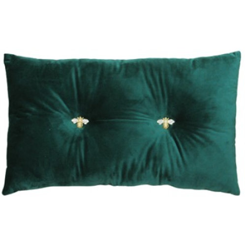 Bumble Bee Cushion Emerald