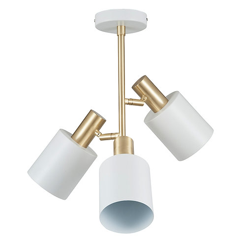 White & brass ceiling pendant
