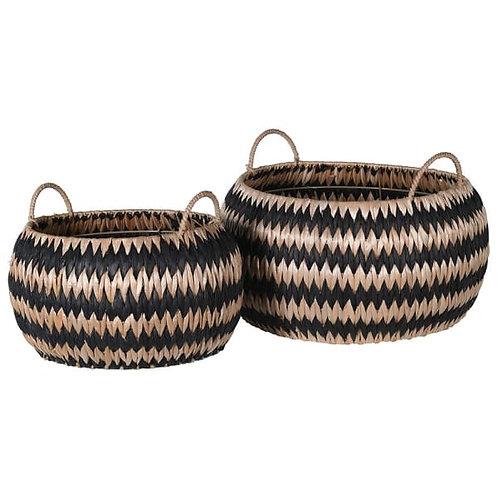 Zig Zag Set of 2 Baskets